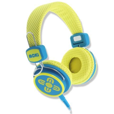 Kids Safe Volume Limited Yellow & Blue Headphones - School Depot NZ
