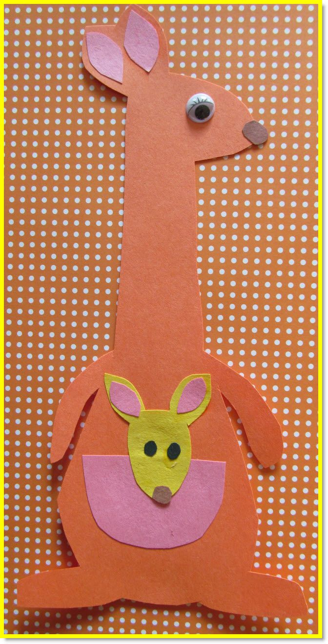 kangaroo crafts - Google Search                                                                                                                                                                                 More