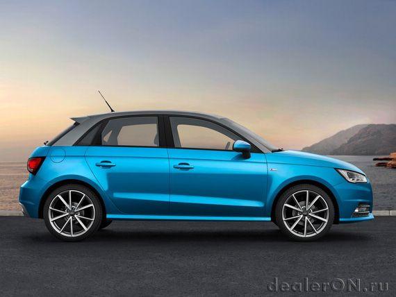Хэтчбек Ауди А1 Спортбэк 2015 / Audi A1 Sportback 2015 – вид сбоку