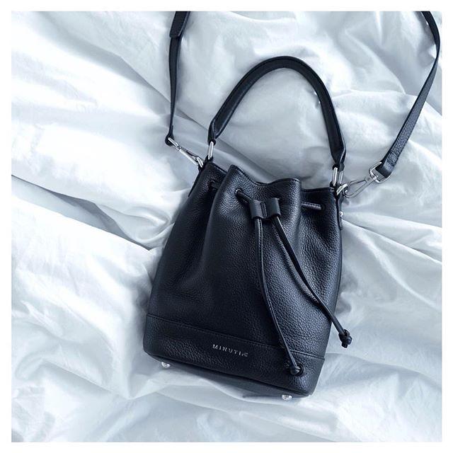 In bed with the Bucket Bag @minutiae_au #Minutiae #Inthedetails #bag #bed #leather www.minutiae.com.au