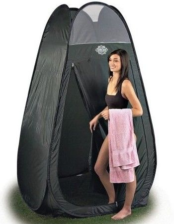 Guide Gear Pop-up Room and Solar Shower-  Camping would be so much more fun with these!  Privacy at last!  lol