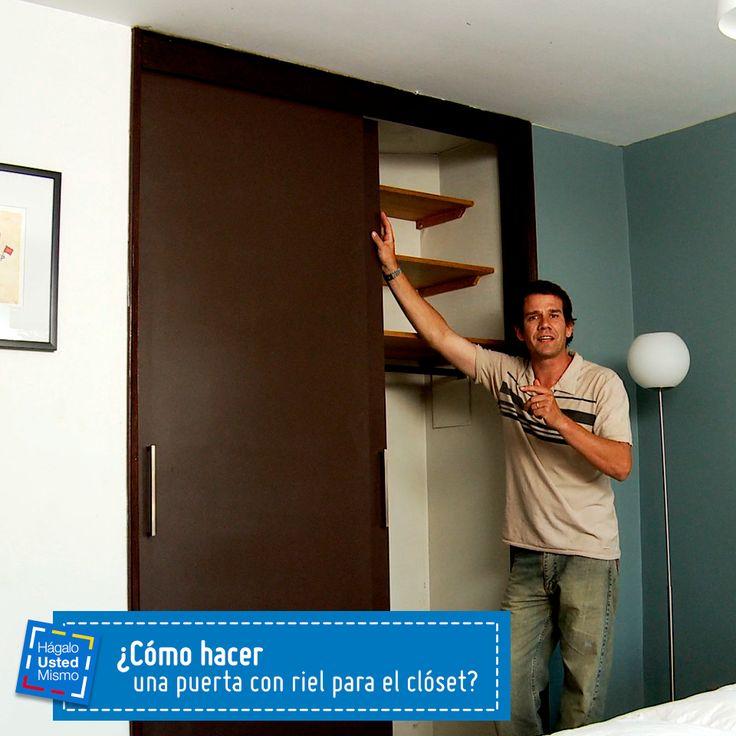 C mo hacer una puerta con riel para el cl set hum for Como hacer una puerta con machimbre