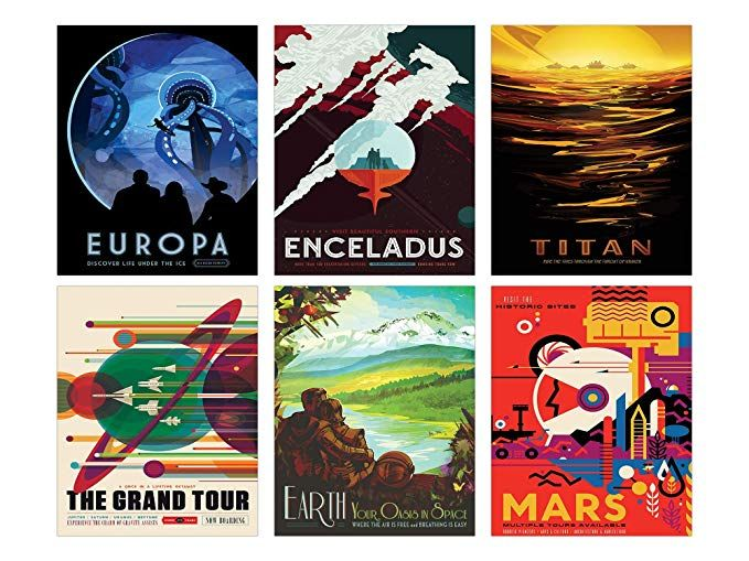 Nasa Space Wall Decor Set Of Six 8x10 Glossy Prints Perfect Future Planet Travel Room Art Posters Review Space Wall Art Glossy Print Travel Room