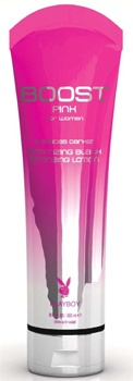 Up to 5 Shades Darker in 1 Session! Playboy's Pink Boost is awesome! There is a matching tan extender too!