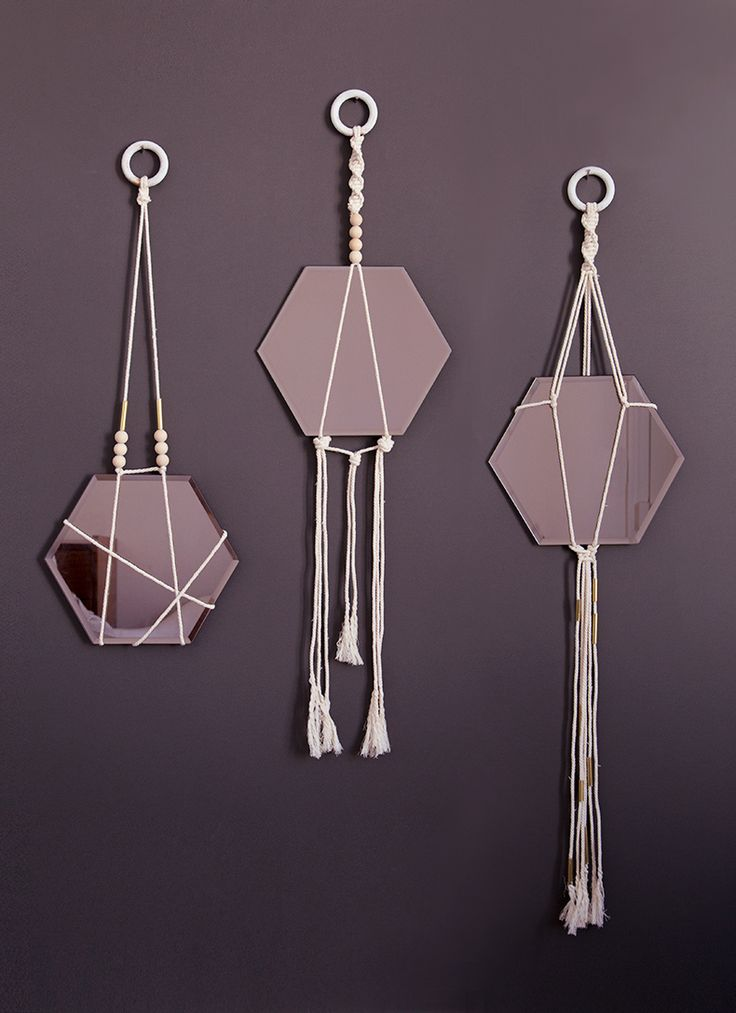 DIY miroirs suspendus by Mamie boude