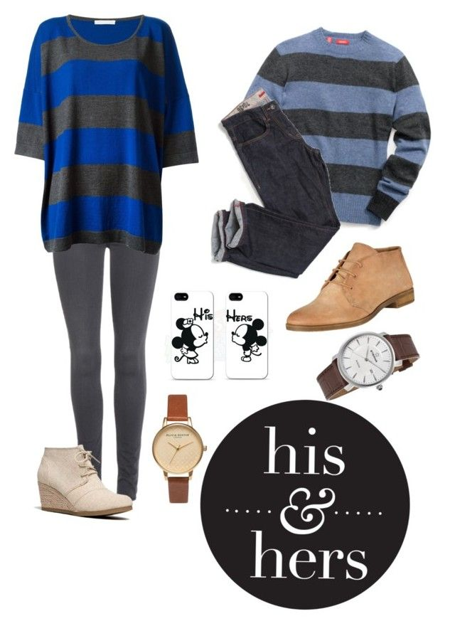 """""""His & Hers"""" by harwood ❤ liked on Polyvore featuring 7 For All Mankind, Société Anonyme, John Lewis, Samsung, City Classified, Eterna and Olivia Burton"""