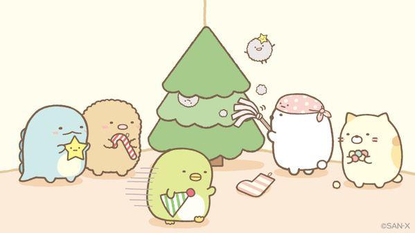 すみっコぐらし【公式】 sumikko_335  12月7日 お部屋のすみっこにツリーを設置✨♪まずはほこりをはたいてから… #クリスマスツリーの日