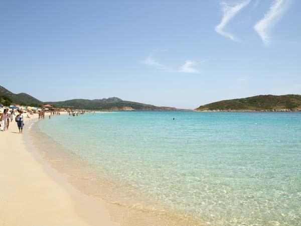 Pula beach in Sardinia