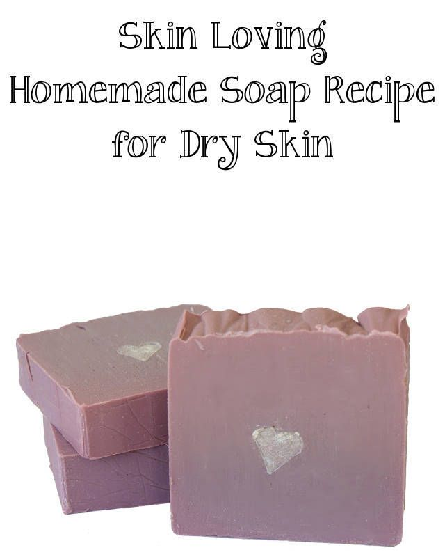 This skin loving natural homemade cold process soap recipe for dry skin makes a thoughtful homemade Mother's Day gift or homemade Valentine's Day gift.