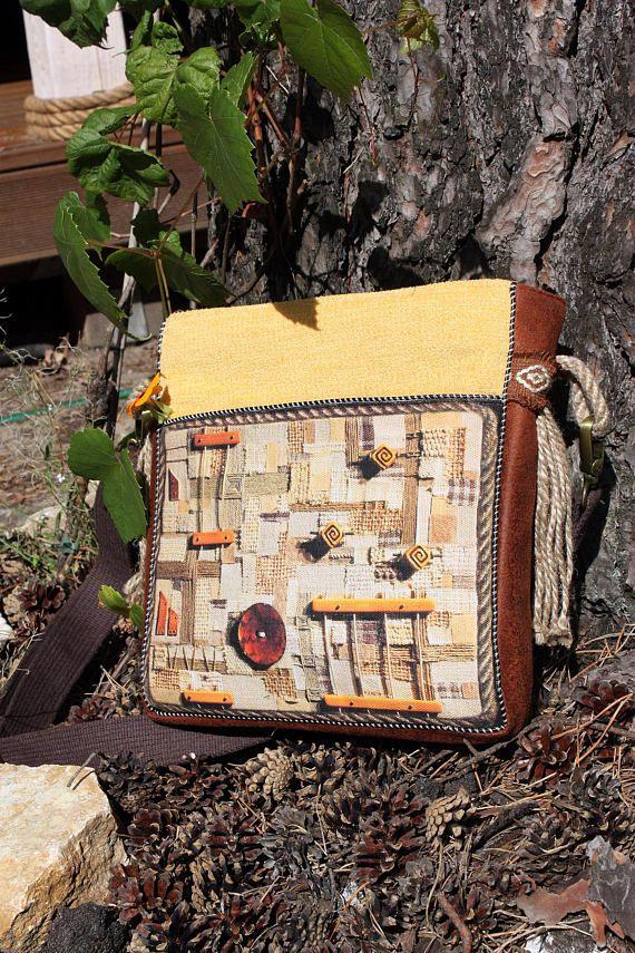 Bohemian gypsy yellow bag yellow handmade bag pale yellow