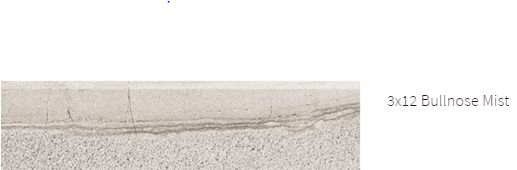 Amelia Marble 3x12 Bullnose Mist #amelia #marble #faberstoneandtile