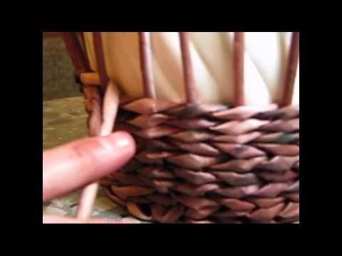 Tejido con una cuerda. Tutorial №69.