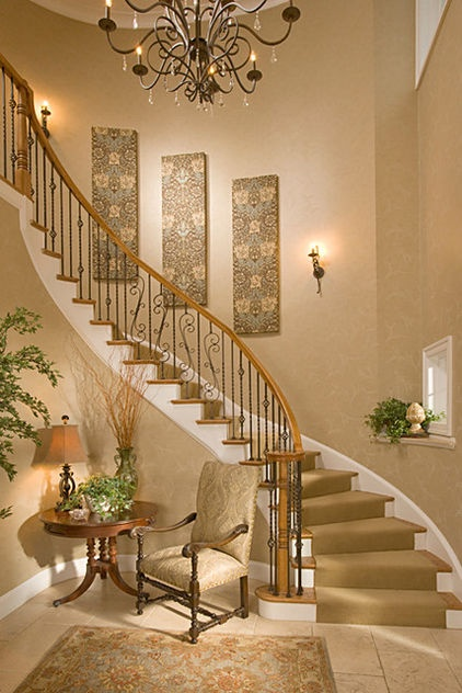 Wall decor but the stairs are amazing design insight for Idea deco pasillo escaleras