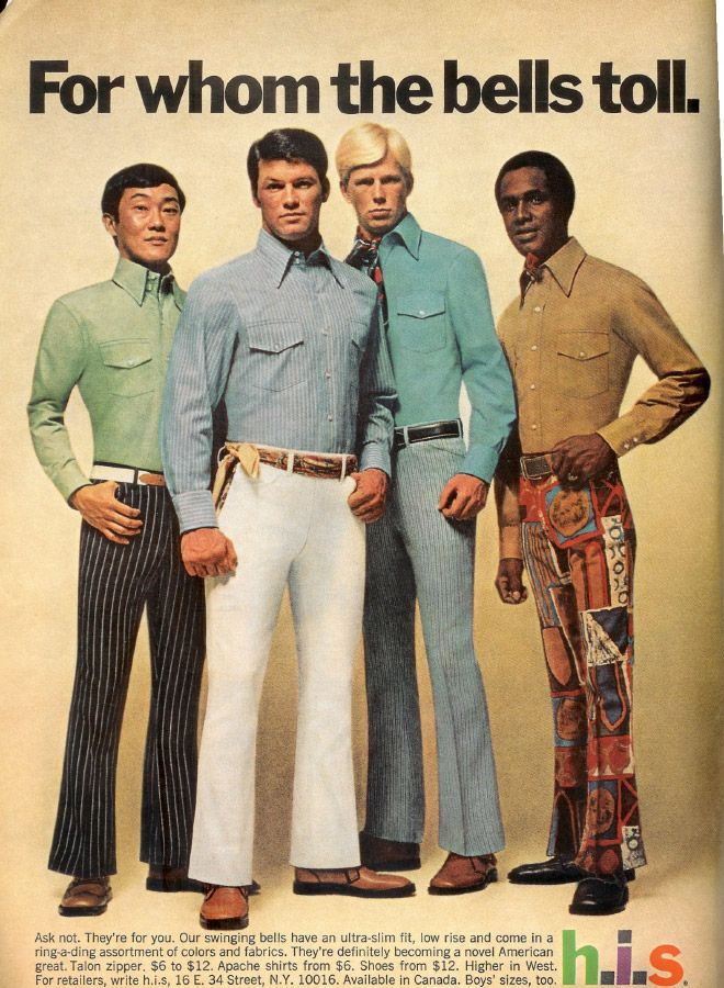 http://flashbak.com/30-1970s-mens-fashion-adverts-that-cannot-be-unseen-36003/  Everything on this page is worth looking at. No idea where I'll use it but this has got to come in handy. Seventies 70s men's fashion.