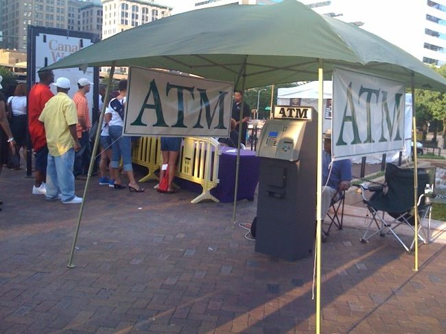 Any type of outdoor event can greatly benefit from having an ATM present!