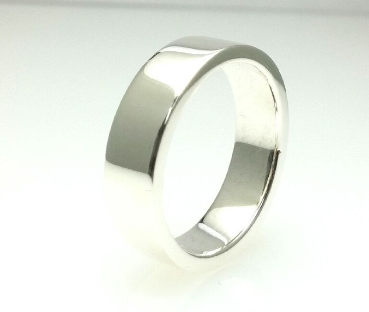 Sterling Silver 7mm Tube Wedding Band Ring 925,2mm Thickness,Brushed Outside Full Polish Inside,Flat 7mm Wedding Ring,All Sizes One Price by Vaptism on Etsy