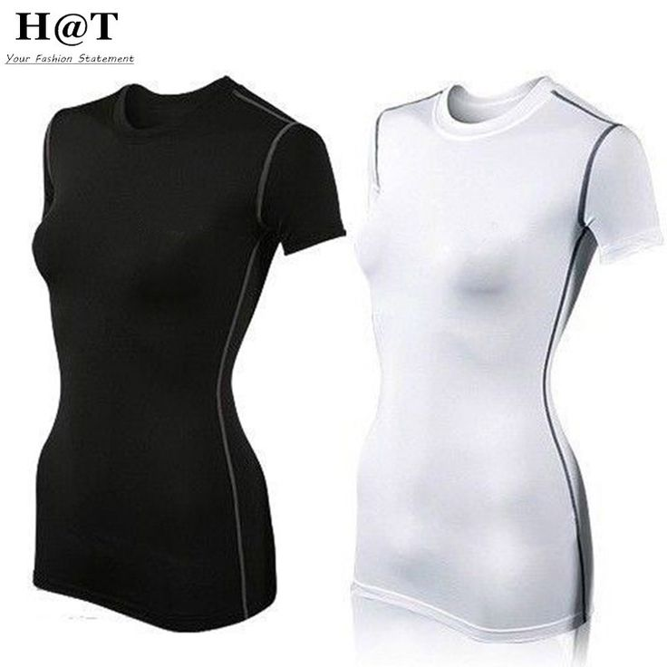 Womens Base Layer Compression Shirt Short Sleeve Casual Sports Yoga Running T-shirts Ladies Gym Wear Sportswear Shirts Tops Quick Dry