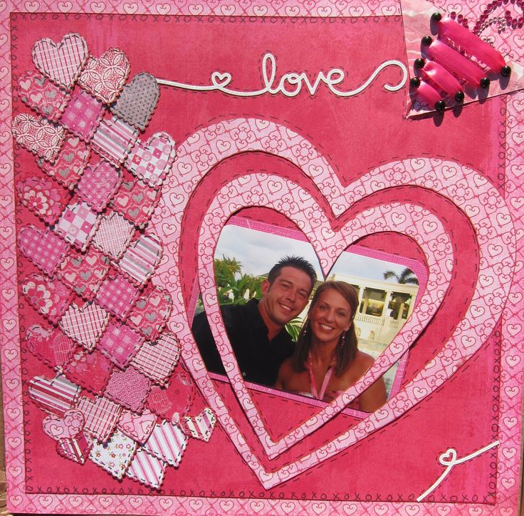 17 best images about scrapbook layouts  love  u0026 valentines