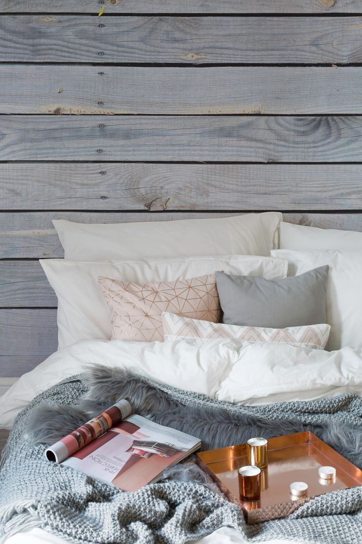 Create a cosy interior this winter, the Hygge way. Using natural textures such as wood can bring a homely feel to your home. Add layer by layer of textures such as soft knits and sheepskins to complete the look.