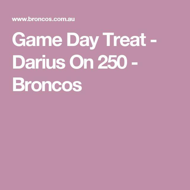 Game Day Treat - Darius On 250 - Broncos