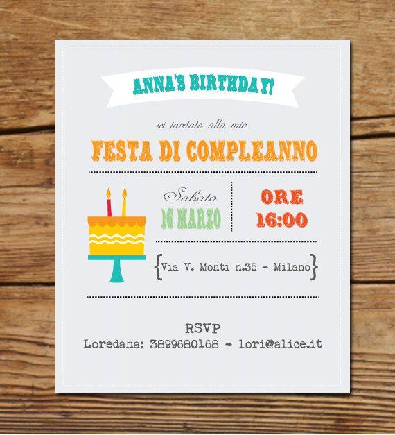 Invito party compleanno personalizzato