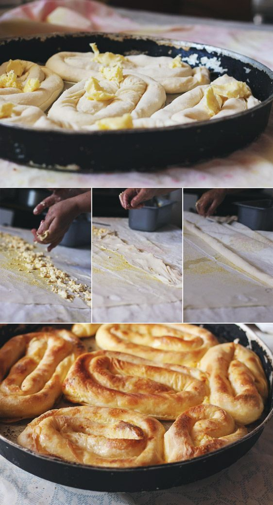 Bosnian Cheese pita SIRNICA, #COTTAGECHEESE ..delicious!!-BEST EATEN WITH SOURCREAM on top ;)