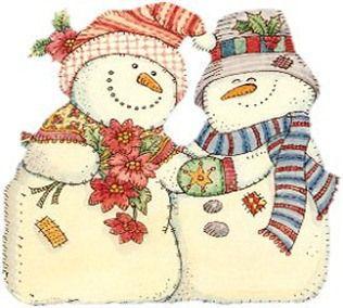 Bonecos de neve para decoupage