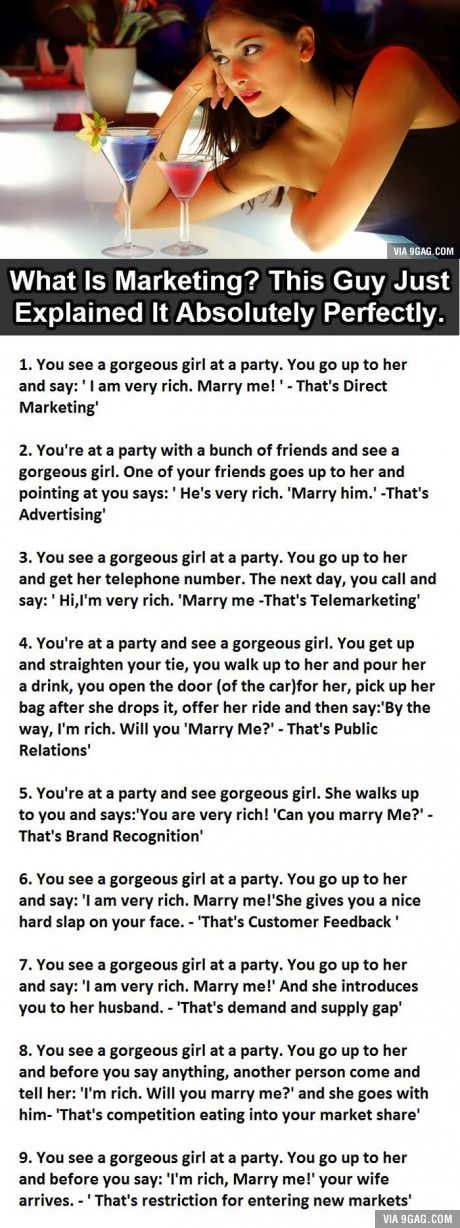 I wish my economy teacher teached me this way - This Guy Just Explained Marketing Perfectly. This Is So True It Hurts.