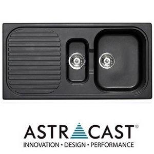 Astracast MSK 1.5 Bowl Granite Italian Black Kitchen Sink & Waste Preview
