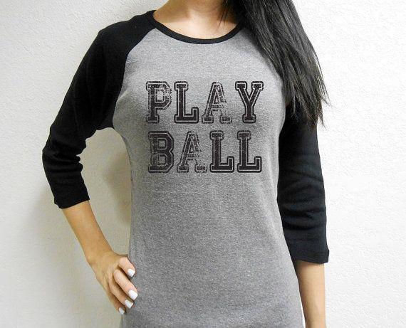 Play Ball Baseball Tee. Spring Training Tee. by StrongGirlClothing, $21.99
