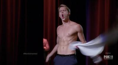 Chord Overstreet Shirtless on Glee