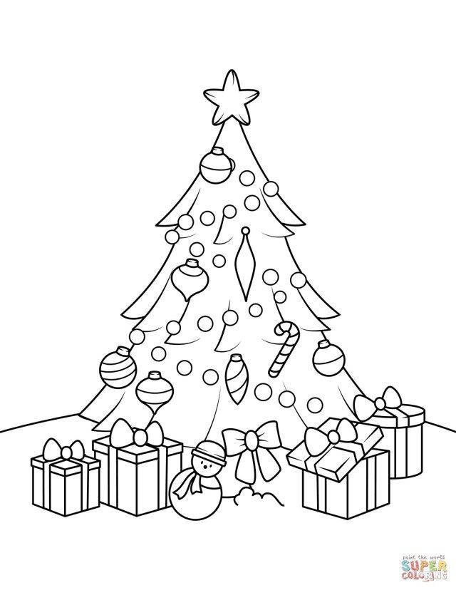 Best Picture Of Christmas Tree Coloring Page Free Birijus Com Christmas Tree Coloring Page Tree Coloring Page Christmas Present Coloring Pages