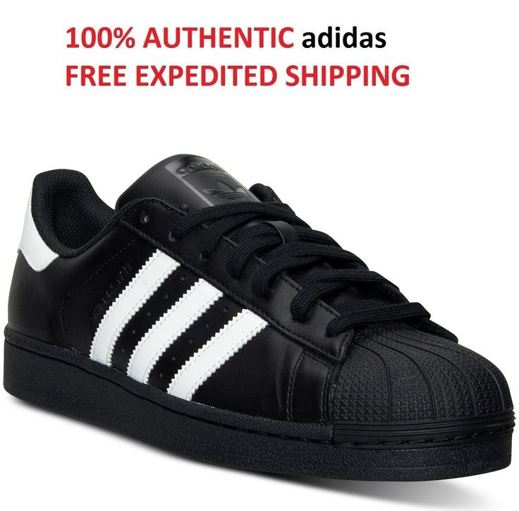 adidas Originals Mens Superstar Foundation BLACK TONGUE Black/White. B27140