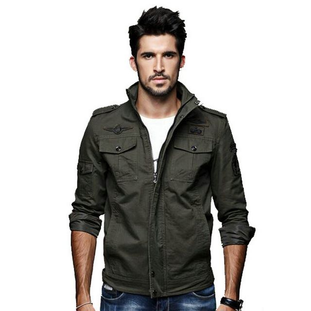 Fair price Spring/Autumn Military Jacket Men Casual Stand Collar Man Jackets Army Outdoors Jackets Mens Coat (Asian Size) just only $30.40 - 34.00 with free shipping worldwide  #jacketscoatsformen Plese click on picture to see our special price for you