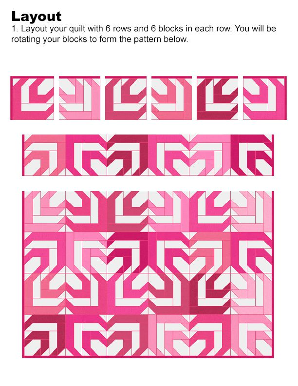 Lets Quilt Something: Heartbeat - Free Quilt Pattern - Jelly Roll