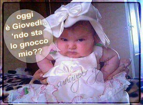 Giovedì. ..Gnocchi! !!!