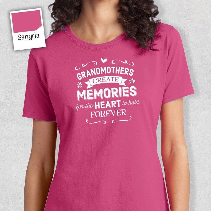 Grandmother Memories, Grandmother Shirt, Grandmother Gift, Grandmother T-Shirt, Grandmother Birthday, Grandmother tee, Grandmother T shirt