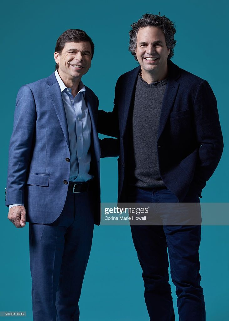 Actor Mark Ruffalo and Michael Rezendes are Photographed for 'The Wrap' on (December 1, 2015) in New York City.