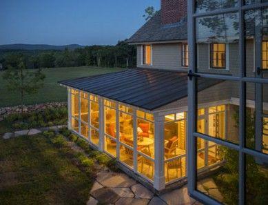 New Hampshire Retreat, Peterborough, NH | Sheldon Pennoyer Architects | Concord, NH | Screen porch