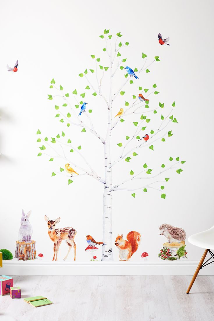 Wall stickers are an easy way to bring a room to life: just peel, stick and go. With our inspiring range of nursery decals, there's no need for wallpaper or stenciling.