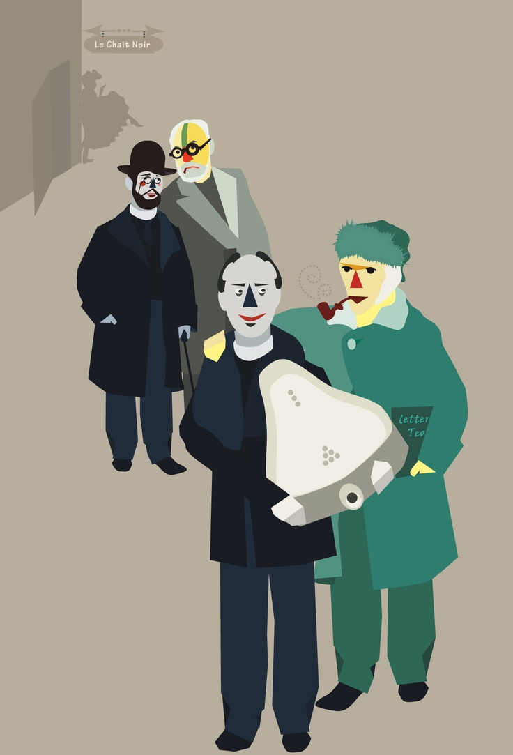 Cabaret  { Lautrec/Matisse/Duchamp/Van Gogh}  #Vectorial illustration