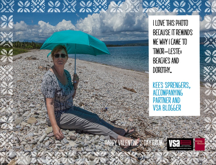 Kees is accompanying his partner, Dorothy, on her VSA assignment in Timor-Leste.