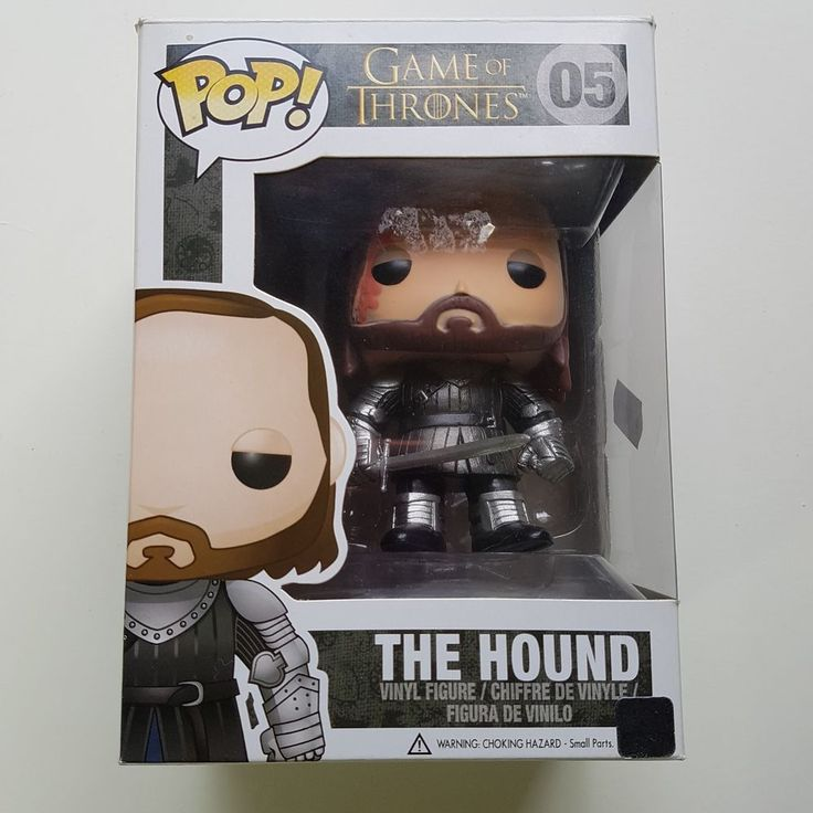 """GAME OF THRONES """"THE HOUND"""" FUNKO POP VINYL FIGURE - VAULTED RETIRED DESIGN - RARE & COLLECTABLE UNUSED IN BOX - LIKE NEW PLEASE SEE PHOTOS AS NO RETURNS. *******************************&#..."""