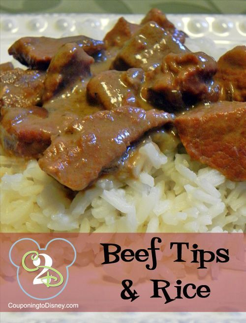 Yummy Slow Cooker Beef Tips and Rice!