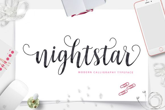 Nightstar Script (40% Off) by Unicode on Creative Market