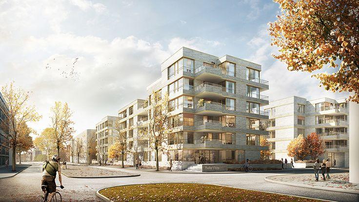 3rd Prize: Perspektive Kommodore-Johnson-Boulevard, © Hilmes Lamprecht Architekten BDA