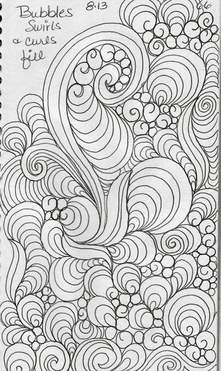 Coloring pages quilt squares - Luann Kessi Sketch Book Leaf Designs 5