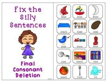 Minimal Pairs Interactive Book: Final Consonant Deletion