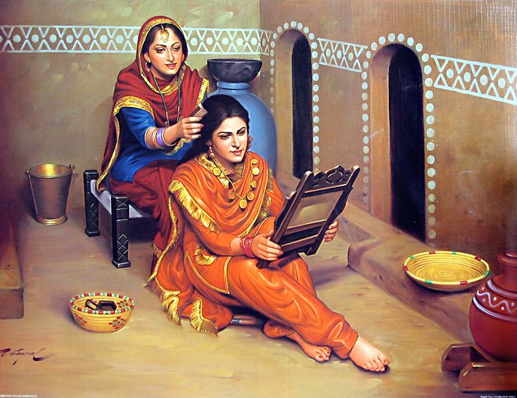 Old Punjabi Culture : Shingar ( make-up)