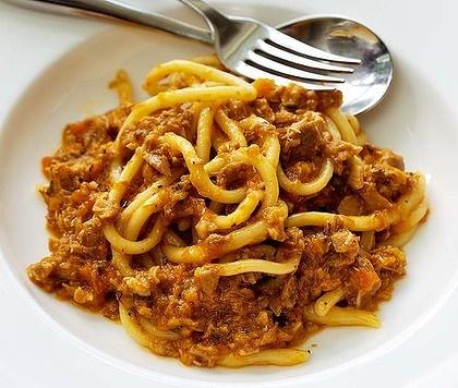 Steve Manfredi's pasta with duck ragu. Photo by Domino Postiglione ...